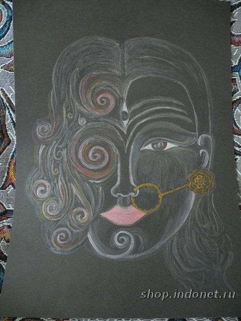 Божественная Мать, рисунок акрилом