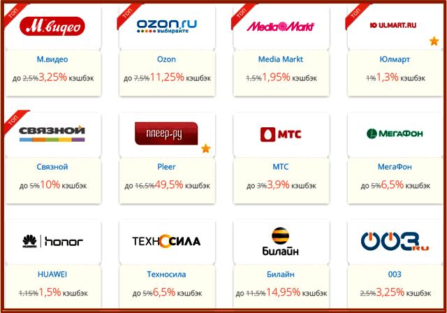 Топ-10 интернет магазинов бытовой техники и электроники и Кэшбэк